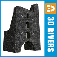 3ds ruined tower building