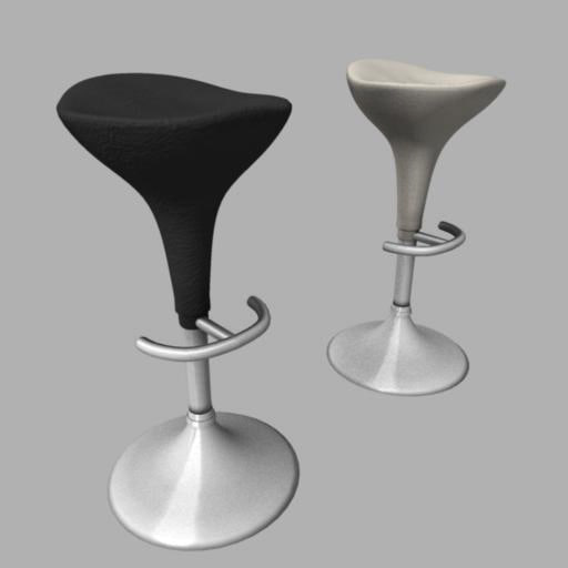 seated bar stools 3d model