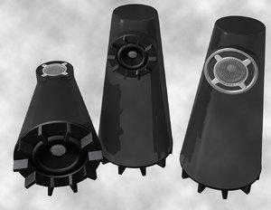 speakers 2 3d obj
