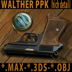 pistols walther ppk 3d max