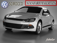 3ds scirocco standard materials car