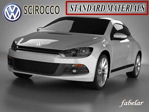3ds scirocco standard materials car