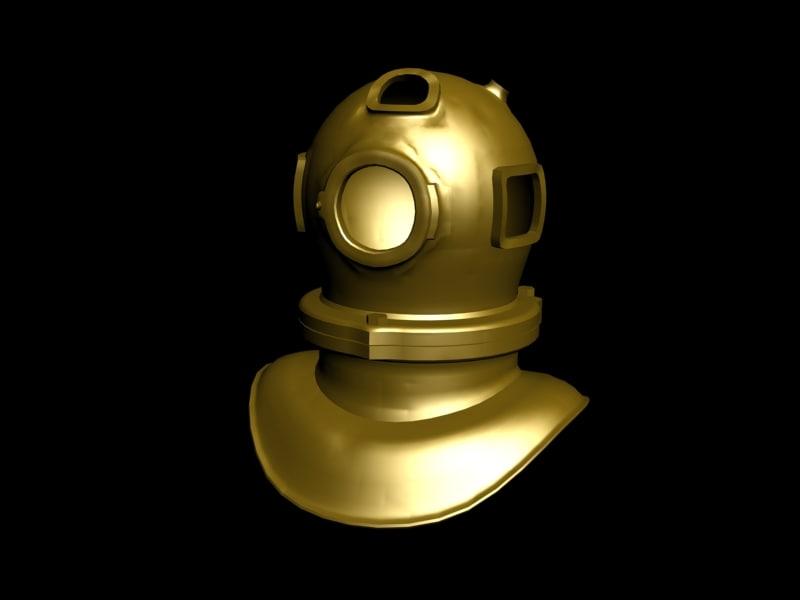 underwater helmet 3d model
