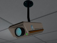 security camera low poly