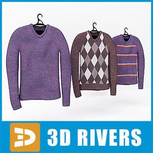 3d sweater set clothes