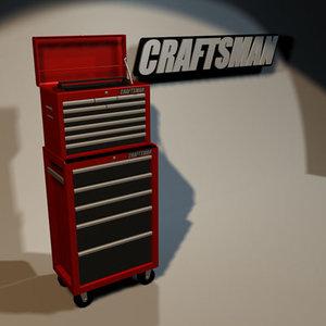tool cabinet 01 3d model