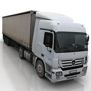 vehicle truck trailer 3d max