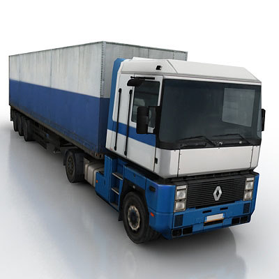 vehicle truck trailer 3d max