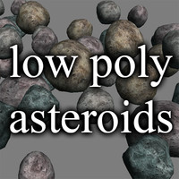 Low poly asteroids