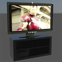 flat hd tv and stand