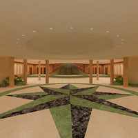 3d model hall