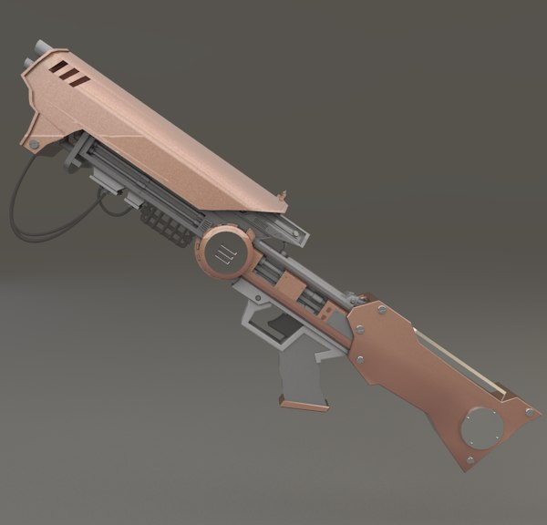 3d model high-poly gun