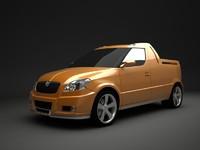 3d model concept roomster car skoda