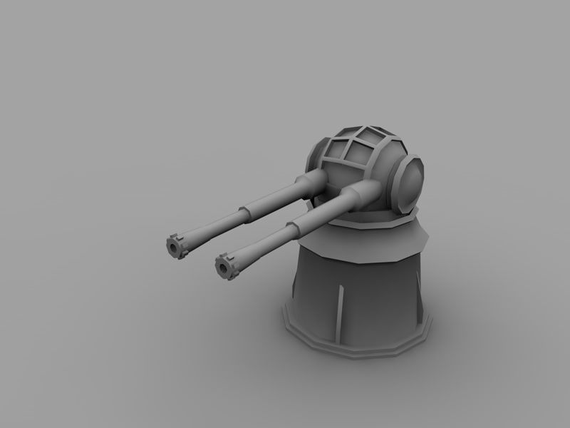 3d red alert flak cannon