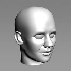 3d accurate 50th percentile male head