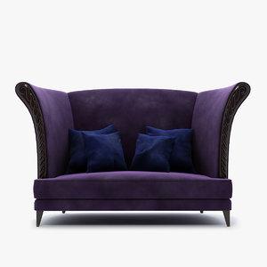 sofa 60 0182 christopher 3d model