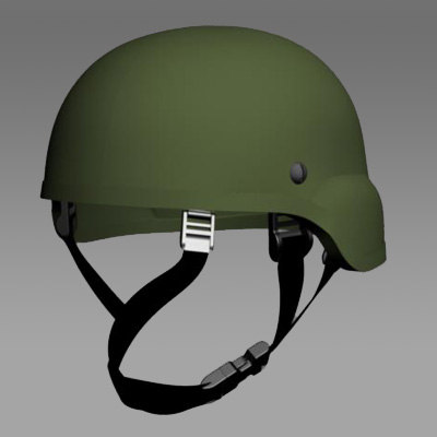 army ach helmet 3d model