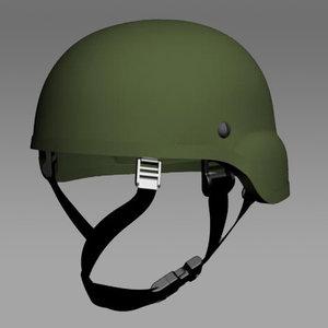 army ach helmet 3d model