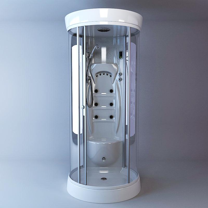 shower cubicle albatros 3d model