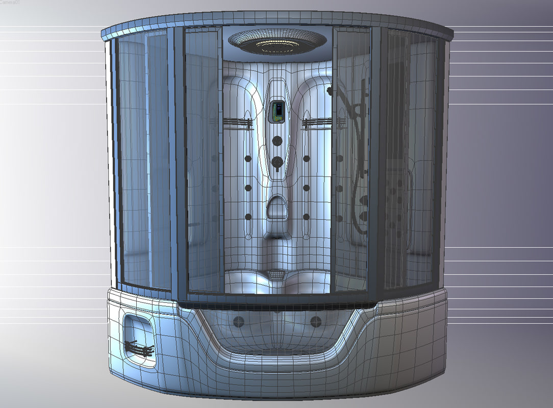 3ds max shower cubicle apollo