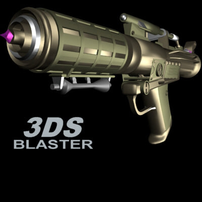 3ds max laser blaster