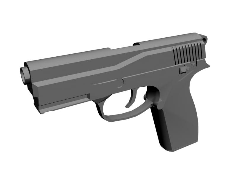 3d model of browning bdm pistol