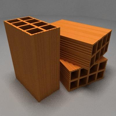 construction bricks 3d model