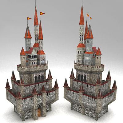 3d model fantasy medieval castle