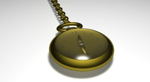 free small pocket watch 3d model