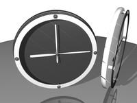 3d clock blender model