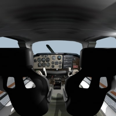 3d beechcraft bonanza cockpit
