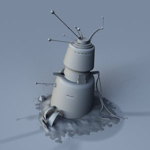 3d space trash sci-fi model