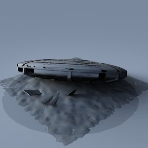 wrecked saucer 3d model