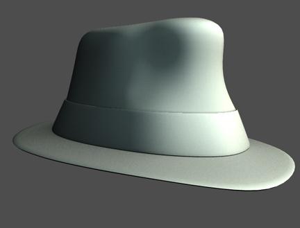 style fedora 3d model