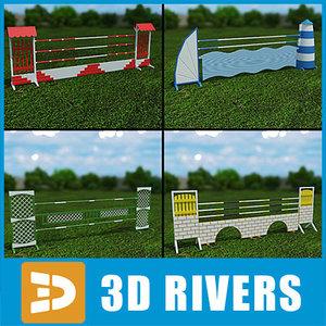 showjumping fences 3d model
