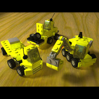 free lego mini construction pack 3d model