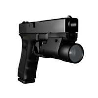 Accurate Glock 22 w/ Tactical Light NURBS