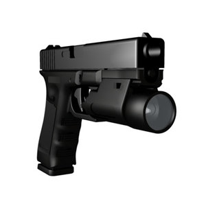 3d model of accurate glock 22 tactical