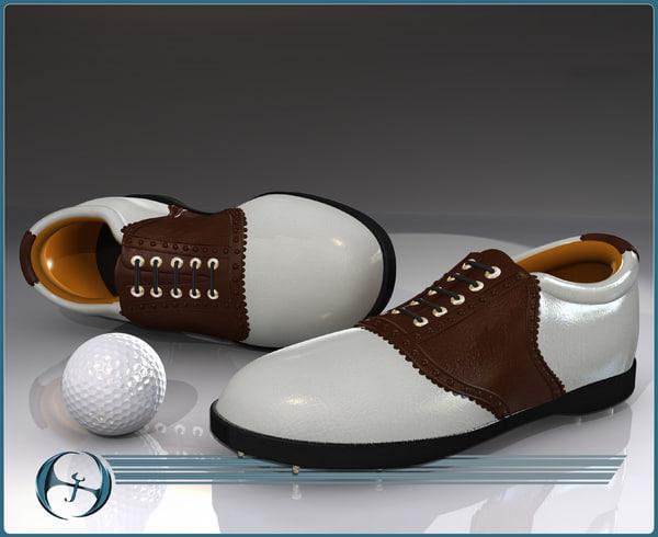 3d model of golf shoe