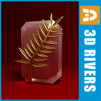 3ds max cannes gold palm branch