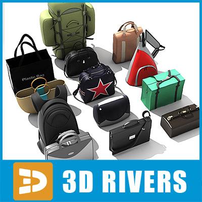 bags fashion retail 3d model