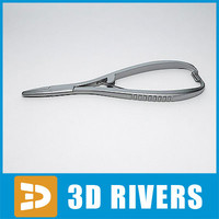 3d model dental needleholder instrument 01