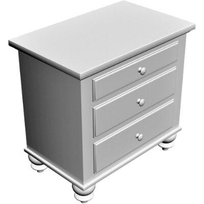 3d obj bedside cabinet