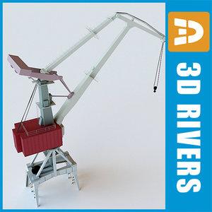 port crawler crane 3d model