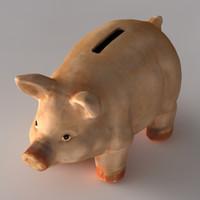 piggy-bank piggy bank 3d obj