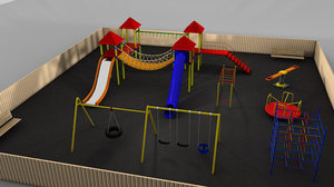 playscape playground slide 3d c4d