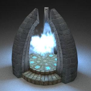 fantasy portal 3d model