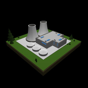 3d model nuclear power plant