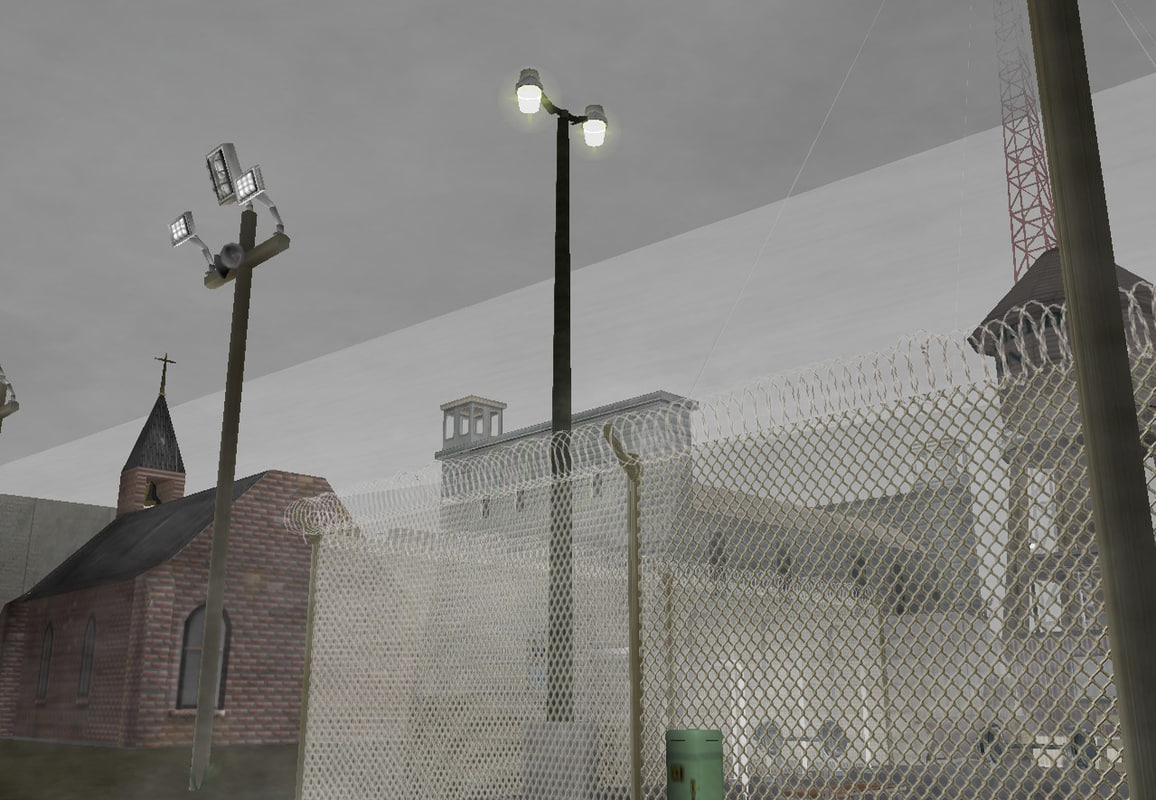 blender prison buildings interactive
