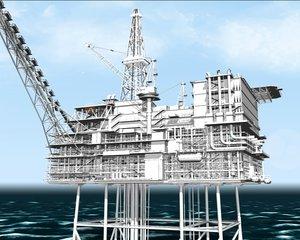 maya oil rig
